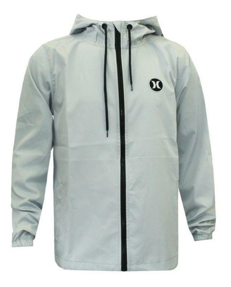 Jaqueta Hurley Windbreaker Strong Cinza