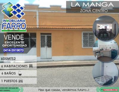 Venta Casa En El Sector La Manga Ve01-0016lm-ro