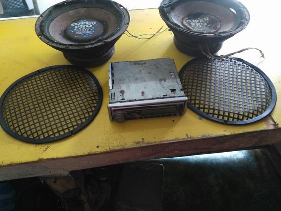 Radio Jvc Am Fm 2 Bocinas Super Pro 700 Wat Usados
