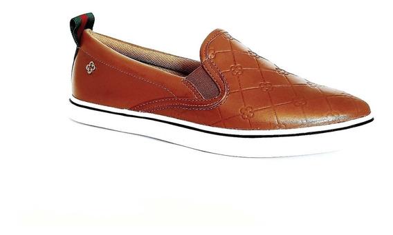 Tênis Slippers Capodarte Sneakers Couro Monograma 4013126