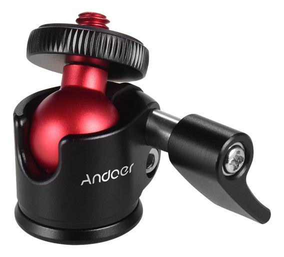 Andoer Mini Tripé Bola Cabeça Giratória De 360 Graus Para