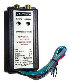 Convertidor De Impedancia Hi Low Para Audio Marca Audiobahn
