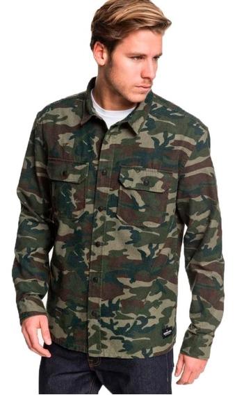 Quiksilver Camisa M/l Lifestyle Hombre Kata Tjuta Camo