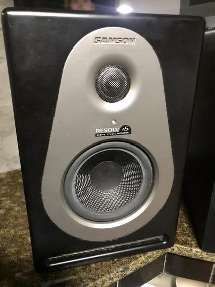 Par (02) Monitor De Referência Audio Ativos Samson Resolv A5