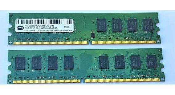 Memoria Hbs 4 Gb Ddr2 800mhz Pc Pc2-6400u 2 X 2