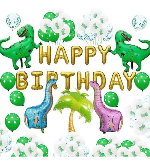 Kit De Globos De Dinosaurios Para Cumpleaños De Bebés