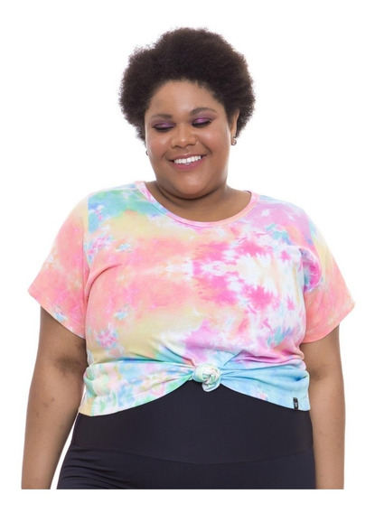 Camiseta Acinturada Plus Size Wonder Size Tiedye Eco