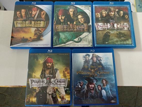 Blu-ray Piratas Do Caribe Saga Completa Todos Coleção