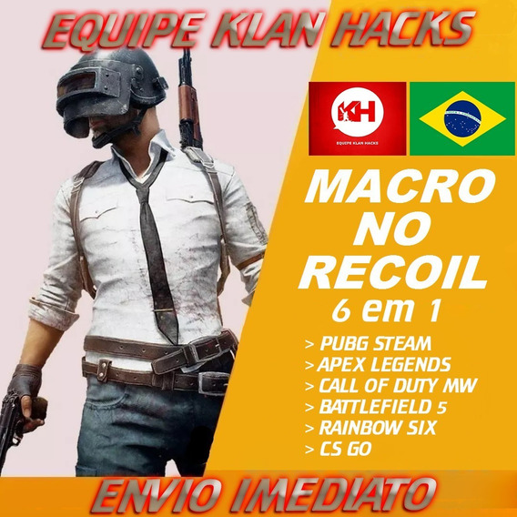 Macro No Recoil - Pubg Steam / Apex Legends / Cs Go / Bf 5