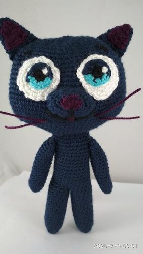 Vera Y El Reino Arcoiris. Gata Tejida A Crochet. Amigurumis