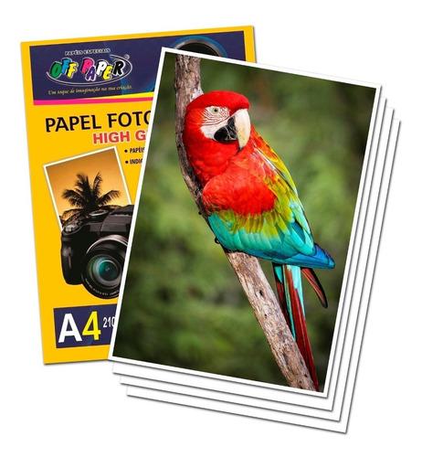 Papel Foto Fotográfico A4 180g Brilahnte Com 50 Folhas 210x297mm High Glossy Alta Qualidade