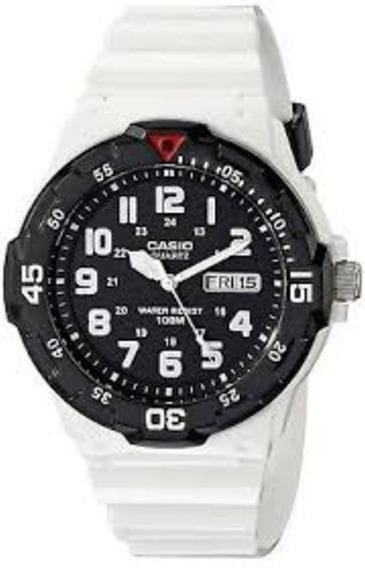 Relógio Casio Original Cor Branco Com Preto