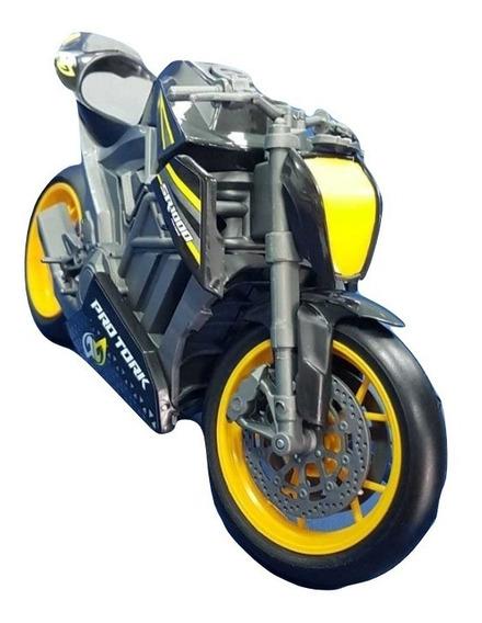 Brinquedo Moto Sport Protork Racing Suspensão Mola