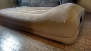 Colchão Inflável Elevado Intex Bege 110v Aveludado 136kg
