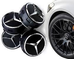 Calota Roda Mercedes Benz Amg 75mm Preta Original