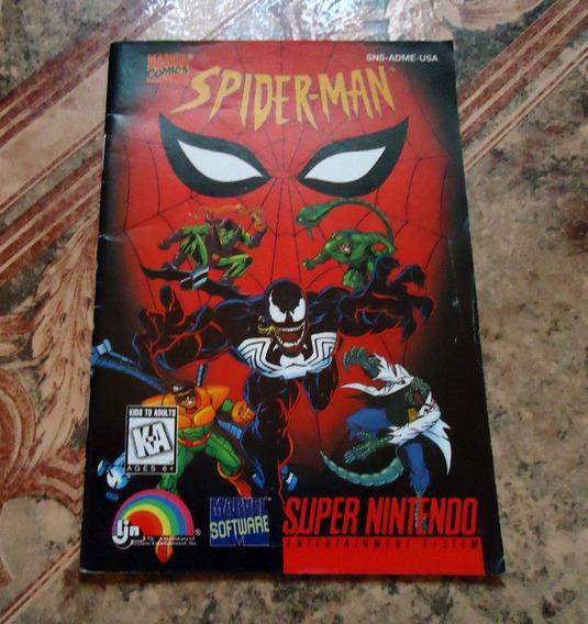 Manual Spider-man Original - Super Nintendo