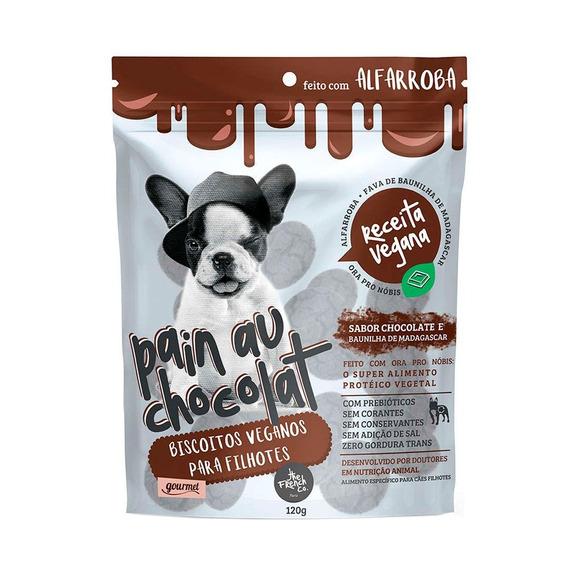 Biscoito The French Para Cães Filhotes Veganos 120g