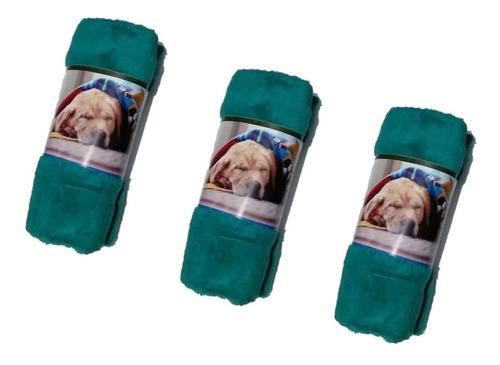 Manta Cobertor Soft Para Pet Cachorro E Gato Kit Com 3unid.