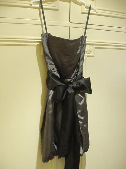 Vestido Strapless Chocolate - Talle 40 - Gris Oscuro