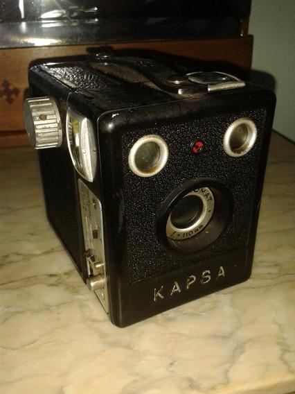 Camera Antiga Kapsa Em Baquelite (only Wood)