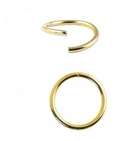 Piercing Orelha Cartilagem E Nariz Argola De Ouro 18k 750