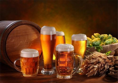 Painel Adesivo Decoração Cervejaria Chopp Bar Barril Cevada