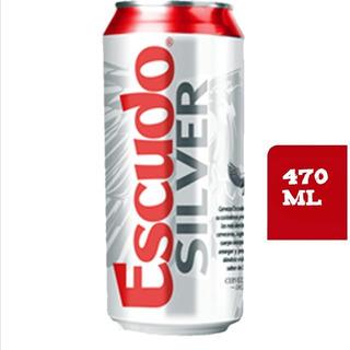 24 Latas De Cervezas Escudo Silver 470 Ml