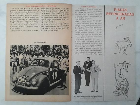 Livreto Fascículo Matéria Volkswagen Brasil Fusca Março 1963