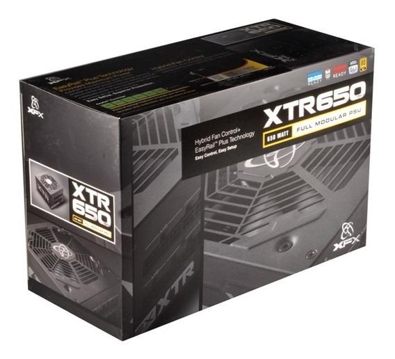Fonte Xfx 650w Xtr Series Full Modular 80 Plus Gold P1-650b-