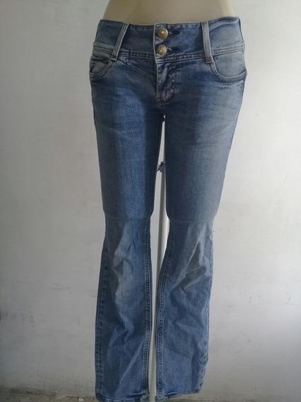 Calça Jeans Com Elastano Feminino Carmim Tam 38