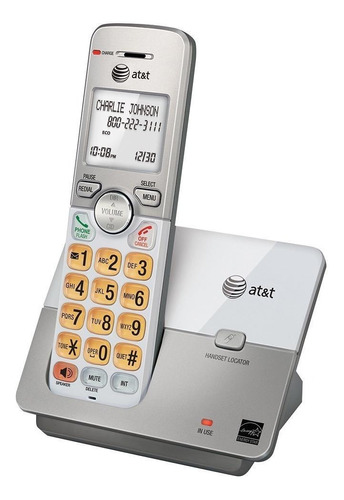 Imagen 1 de 2 de Teléfono inalámbrico AT&T EL51203 plateado