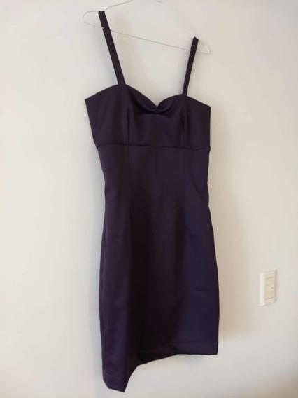 Vestido Corto Violeta Oscuro