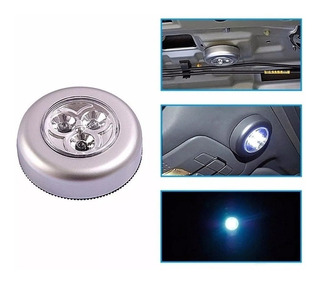 Luz 3 Leds Emergencia A Pilas Autoadhesiva Activa A Presion