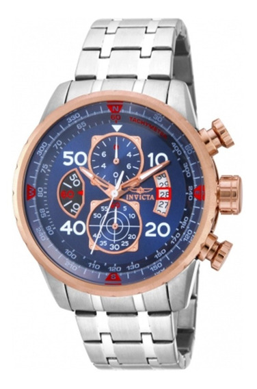 Relogio Masculino Invicta Aviator 17203 (gold Rose) Original