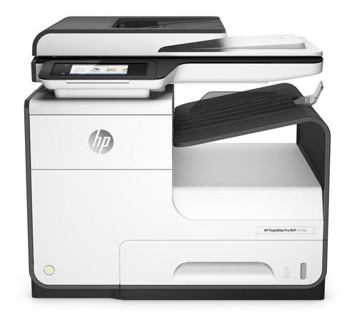 Impressora a cor multifuncional HP PageWide Pro 477dw com wifi 100V/240V branca e cinza