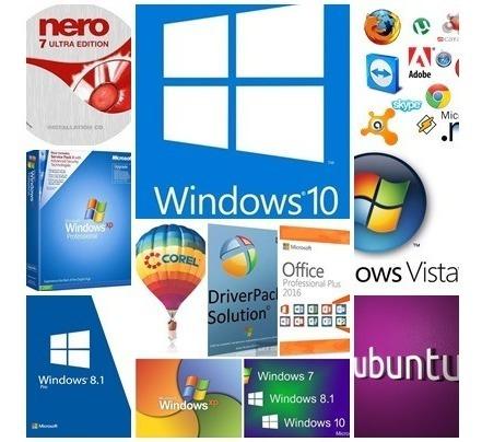 Kit 16 Dvds Para Formatação De Pc E Not, Windows 10,7,8.1,xp