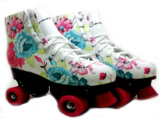 Patins Tradicional Infantil Roller Have Fun Floral - Convoy