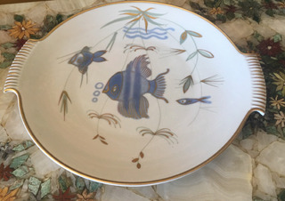 Bandeja Porcelana Bavaria H Grumm Handgemalt