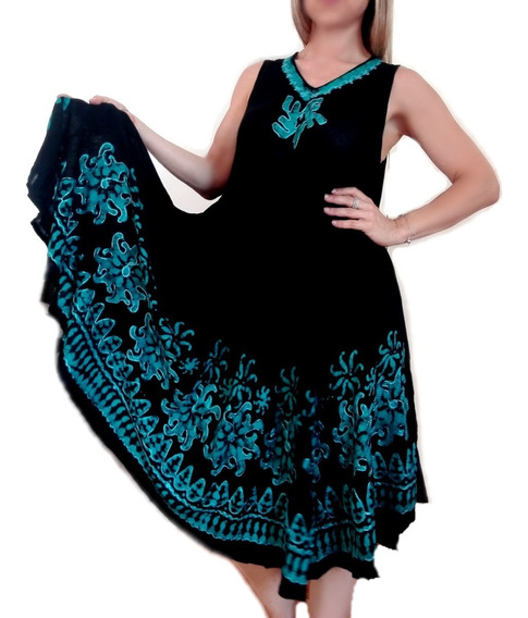Vestidos Hindu Mujer Talles Grandes Hasta 3xl Playeros