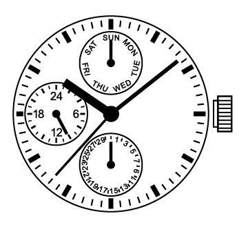Maquina Vx3ne Para Relógios Orient, Seculus, Technos...