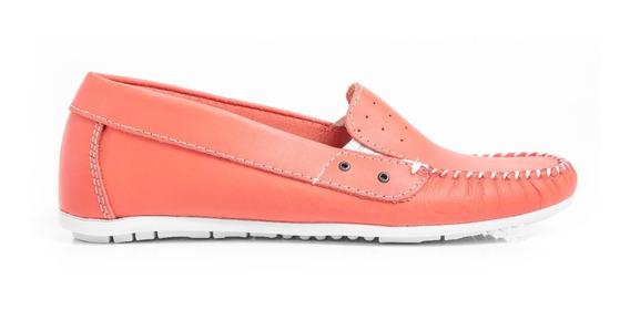 Zapatos Mujer Mocasines Nauticos Balerinas Cómodos En Cuero