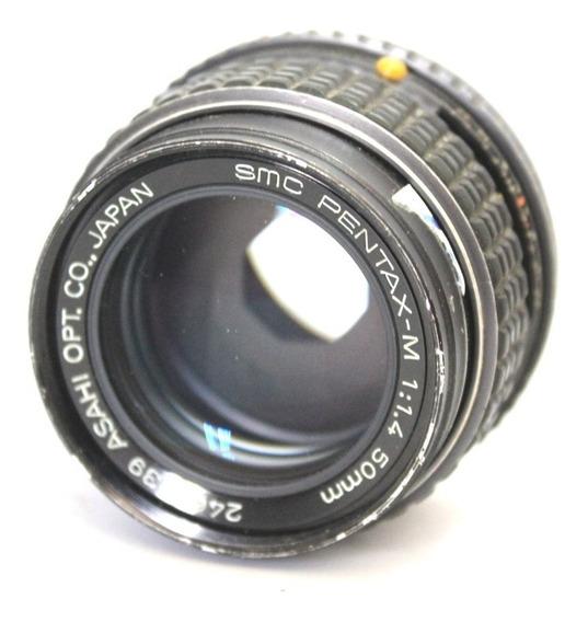 Lente Asahi Pentax 50mm 1.4 Retro Coleção Made In Japan