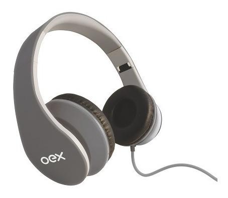 Fone De Ouvido Headphone Sense Hp100 Microfone Cinza Oex