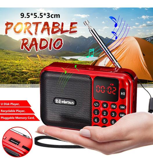 Receptor De Rádio Digital Portátil Mini Speaker Mp3 Player D