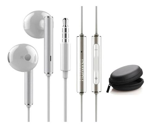 Audífonos Huawei Am116 Blanco Manos Libres Con Estuche