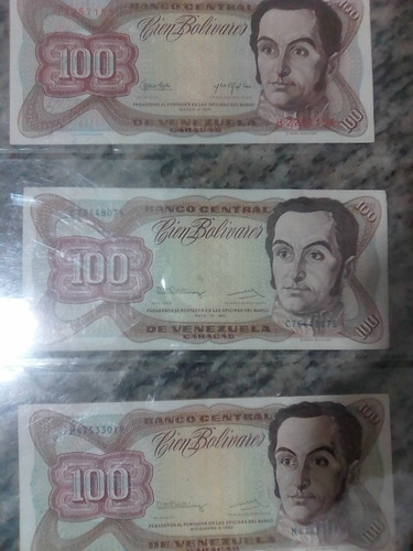 Colección De Billetes Venezolanos Antiguos Varios