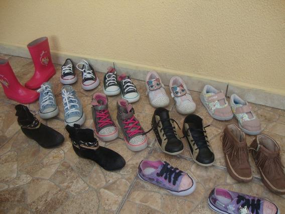 Lote 18 Pares Tenis Calçado Menina Infantil N 27