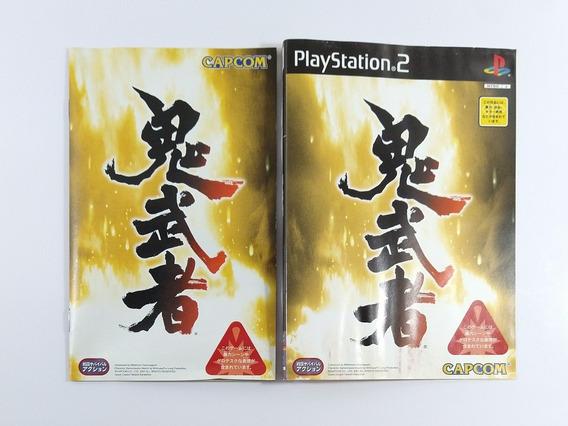 Onimusha Original Japonês Encarte E Manual
