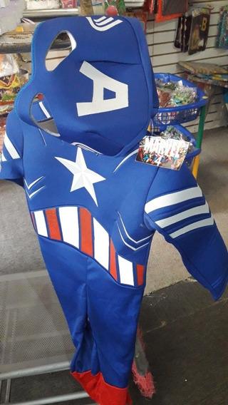 Disfraz Capitan America Musculoso Sin Escudo Nuevo 20.000