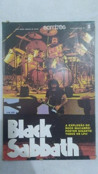 Revista Pôster Black Sabbath Rock Rara Frete Grátis